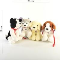 Can-Em Oyuncak B.Plush Peluş Tasmalı Köpek 25X20 Cm