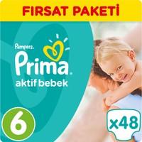 Prima Bebek Bezi Aktif Bebek 6 Beden Ekstra Large Fırsat Paketi 48 Adet