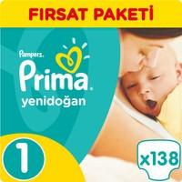 Prima Bebek Bezi Yeni Bebek Hiper Ekonomik Paket Yenidoğan 1 Beden 138 Adet