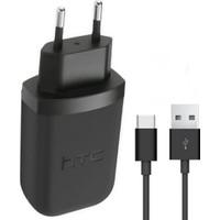 HTC 10 USB Type-C Şarj/Data Kablo + Şarj Cihazı (İthalatçı Garantili)