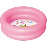 Bestway şişme Bebek Havuzu 2 Halkalı Taban Desenli Pembe 51061