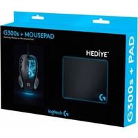 Logitech G300S Mouse+Pad+Sticker+Bardak Altlığı