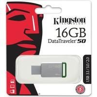 Kingston 16Gb Usb3.1 Memory Dt50/16Gb Metal/Yeşil