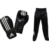 Adidas Impact Siyah Kick Boks Eldiveni - Kick Boks Pantolonu Seti