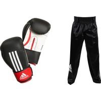Adidas Energy200D Kick Boks Eldiveni - Siyah Kick Boks Pantolonu Seti