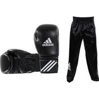 Adidas Speed50 Kick Boks Eldiveni - Siyah Kick Boks Pantolonu Seti