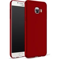 Microcase Samsung Galaxy C9 Pro Premium Mat Silikon Kılıf+Tempered Cam