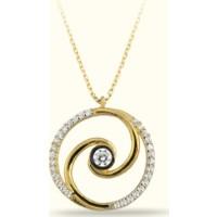 Golden Silver World 14 Ayar Altın Yuvarlak Spiral Kolye