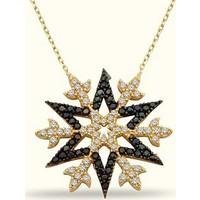 Golden Silver World 14 Ayar Altın Kuzey Yıldızı Kolye