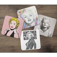 KFBiMilyon Marilyn Monroe Tasarımlı MDF Bardak Altlığı Seti