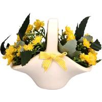 Sepet Saksıda Yapay Çiçek