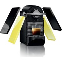 Nespresso C60C-PIXIE Clips Kahve Makinesi Black and Lemon Neon
