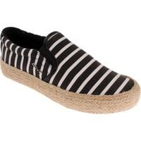 Dkny Beth Jute Stripe Print Canvas 23156360 Kadın Ayakkabı Black Whıte