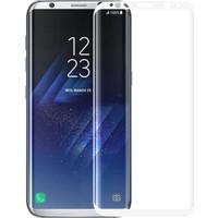 Microsonic Samsung Galaxy S8 Plus 3D Kavisli Temperli Cam Ekran koruyucu Kırılmaz Film Beyaz