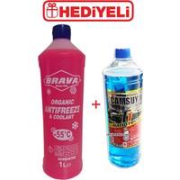 Brava Antifriz Kırmızı Organic -55 C - 1 litre + Cam Suyu