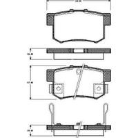 FREN BALATASI ARKA (HONDA ACCORD VII (CG) [WVA 21720] - [ 88,9X47,5X14 MM] - İKAZ KABLOLU