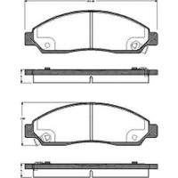 FREN BALATASI ÖN ( D-MAX (8DH) 2.4 4X4,3.5 V6 24V 4X4