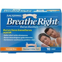 Breathe Rıght Burun Bandı 10 Adet(Normal Boy)