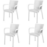 Comfort Rattan Koltuk Rattan Balkon Bahçe Sandalyesi Rattan Koltuk 4 adet