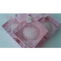 Turunç Tasarım güllü Kalp Kokulu Sabun (Beyaz) 30 Adet