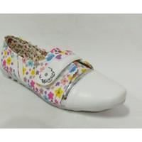 Punto 644179 Beyaz Çiçek Desenli Çocuk Babet Ayakkabı