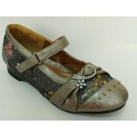 Punto Gri Kız Çocuk Babet Ayakkabı