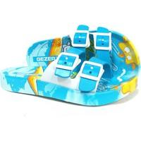 Gezer 8844 Turkuaz Mavi Deniz Plaj Kumsal Çocuk Terlik