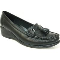 Filik 129 Siyah %100 Deri Comfort Bayan Ayakkabı