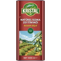 Kristal Natürel Sızma Zeytinyağı Dolgun Güçlü 4 Litre