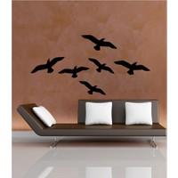 Kuşlar Kadife Duvar Sticker