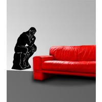 Rodin Kadife Duvar Sticker 120X76 Cm