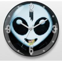 Juno Alien Bombeli Cam Duvar Saati