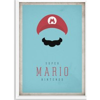 Juno Süper Mario Çerçeveli Poster