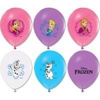 Sihirli Parti Çift Taraflı Frozen Baskılı Balon (10 Adet)