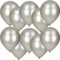 Sihirli Parti Metalik Balon Gümüş (20 Adet)