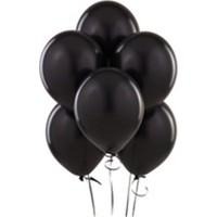 Sihirli Parti Metalik Siyah Balon (20 Adet)