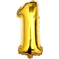 Sihirli Parti Rakam Folyo Balon Altın 96 cm