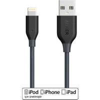 Anker Powerline Lightning 1 Metre iPhone Şarj/Data Kablosu MFI Lisanslı- Gri