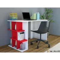 Minar Plus Çalışma Masası Mplsçm.Pbk.18.01 Beyaz - Kırmızı
