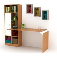 Opus 147 Kitaplıklı Çalışma Masası