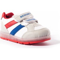 Scooby Bebek Ayakkabı 339-B202 Beyaz-Kırmızı