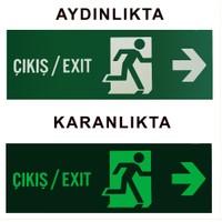 Bilge Fotolümen Levha - Çıkış/Exit Sağ Yön