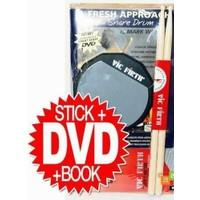 Vicfirth Fasp Perkusyon Başlangıç Seti ,Baget (Sd1) 6 İnç Pad- Dvd Ve Kitap