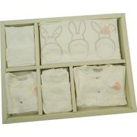 Cassiope Bebe Zıbın Seti 10 Parça - Beyaz - Pembe