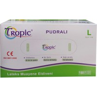 Tropic Pudralı Lateks Muayene Eldiveni L (100'lü Paket )