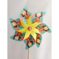 Polin Garden Rüzgar Gülü Çap : 46 Cm Çiçek Baskılı