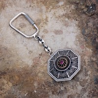 Sümer Telkari Telkari İşlemeli Gümüş Anahtarlık 99