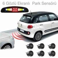 CARUB Park Sensörü Ekranlı Sesli 6 Gözlü
