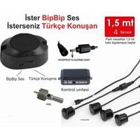 Park Sensörü Hem Türkçe Hem Bip Sesli 4 Sensörlü Siyah CS-EZ045