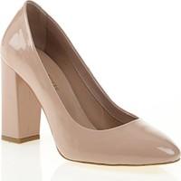 Nemesis Shoes Klasik Topuklu Ayakkabı Pudra Rugan